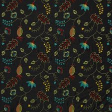 Jet Embroidery Decorator Fabric by Duralee