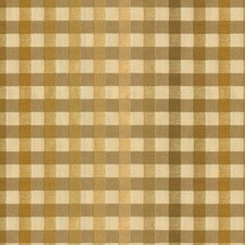 Beige/Yellow Check Decorator Fabric by Kravet