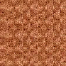 Orange/Beige Diamond Decorator Fabric by Kravet