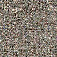 Grey/Blue/Orange Texture Decorator Fabric by Kravet