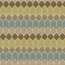 Beige/Spa/Wheat Geometric Decorator Fabric by Kravet