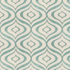 Ivory/Turquoise Modern Decorator Fabric by Kravet