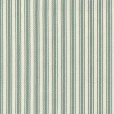 Green/Blue/White Stripes Decorator Fabric by Kravet