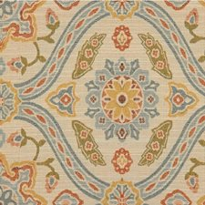 Beige/Multi Damask Decorator Fabric by Kravet