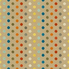 Beige/Multi Geometric Decorator Fabric by Kravet