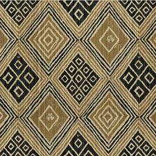 Beige/Black/Taupe Diamond Decorator Fabric by Kravet