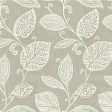 Beige/White Botanical Decorator Fabric by Kravet