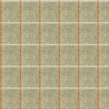 Grey/Orange/White Check Decorator Fabric by Kravet