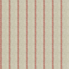 Coral/Beige/Brown Stripes Decorator Fabric by Kravet