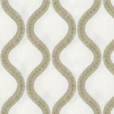 Ivory/Beige Geometric Decorator Fabric by Kravet
