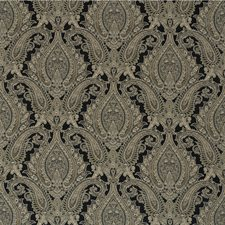 Black/Beige/Grey Damask Decorator Fabric by Kravet