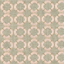 Beige/Pink/Gold Geometric Decorator Fabric by Kravet