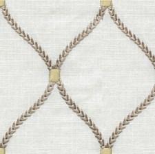 White/Grey/Gold Geometric Decorator Fabric by Kravet