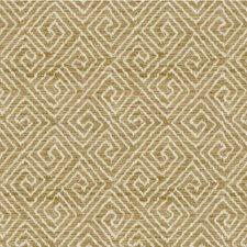Beige/Ivory/Gold Geometric Decorator Fabric by Kravet