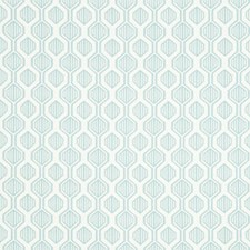 Light Blue/Ivory Geometric Decorator Fabric by Kravet