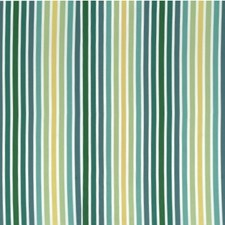 Blue/Turquoise/Yellow Stripes Decorator Fabric by Kravet