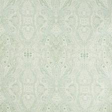 Ivory/Celery/Light Blue Paisley Decorator Fabric by Kravet