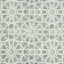 Blue/Grey/White Ethnic Decorator Fabric by Kravet