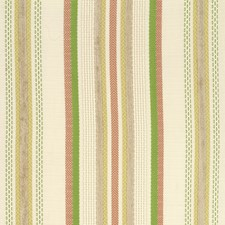 Ivory/Coral/Mint Stripes Decorator Fabric by Kravet