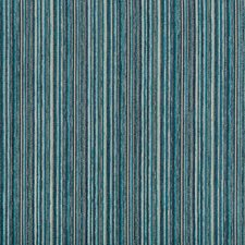 Blue/Turquoise/Light Blue Stripes Decorator Fabric by Kravet