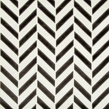 Ivory/Noir Geometric Decorator Fabric by Kravet