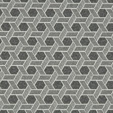 Graphite Geometric Decorator Fabric by Kravet