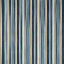 Blue/Beige/White Stripes Decorator Fabric by Kravet