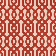 Red/Ivory/Beige Lattice Decorator Fabric by Kravet