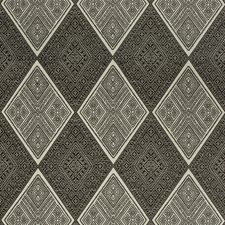 Black/Beige Diamond Decorator Fabric by Kravet