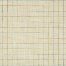Beige/Light Blue/Celery Check Decorator Fabric by Kravet