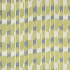 White/Green/Slate Ikat Decorator Fabric by Kravet