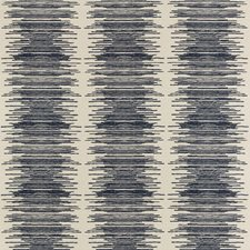 Dark Blue/Indigo Contemporary Decorator Fabric by Kravet