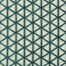 Ivory/Green/Teal Geometric Decorator Fabric by Kravet
