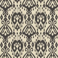 Black/Beige Ikat Decorator Fabric by Kravet