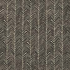 Black/White Herringbone Decorator Fabric by Kravet