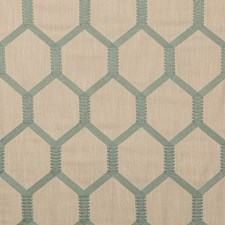 Beige/Green Geometric Decorator Fabric by Kravet