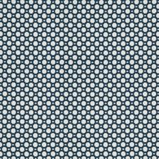 Indigo/White Geometric Decorator Fabric by Kravet