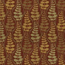 Ginger Spice Leaves Decorator Fabric by Fabricut