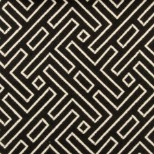Black/White Geometric Decorator Fabric by Duralee