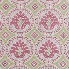 Pink/Green Diamond Decorator Fabric by Duralee