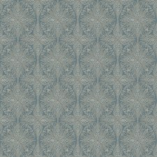 Teal Medallion Decorator Fabric by Fabricut