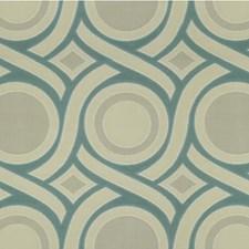 Blue/Grey Modern Decorator Fabric by Kravet