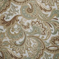 Aqua/cocoa Decorator Fabric by Duralee