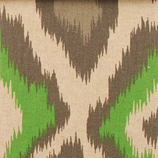 Natural/Green Diamond Decorator Fabric by Duralee