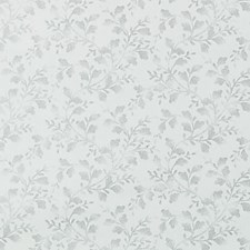 Silver Floral Vine Decorator Fabric by Duralee