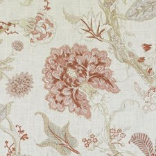 Natural/Pink Floral Large Decorator Fabric by Duralee