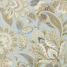 Blue/Gold Floral Large Decorator Fabric by Duralee