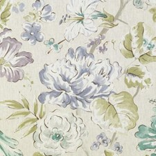 Blue/Green Floral Large Decorator Fabric by Duralee