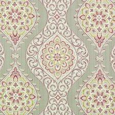 Purple/Sage Medallion Decorator Fabric by Duralee