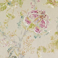Celery/Cocoa Floral Large Decorator Fabric by Duralee